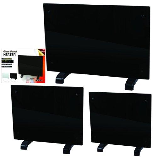 Electric Panel Heater Radiator Glass Black Portable Free