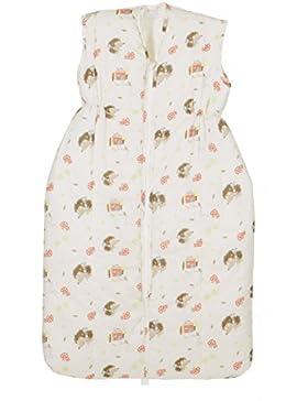 Coconette Baby & Kinder Schlafsack Igel / warmer & wattierter Winterschlafsack / 100% Baumwolle / Weiß