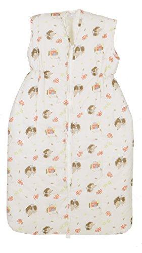 Coconette Baby & Kinder Schlafsack Igel / warmer & wattierter Winterschlafsack / 100% Baumwolle / Weiß (110 cm)