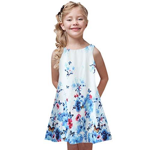Beikoard Babykleidung Kleinkind Mädchen Kleider Sommer Prinzessin Kleid Kinder Baby Printing Party ärmellose Kleider Sommer Mädchen Kleidung Trainingsanzug 4-9 Jahre