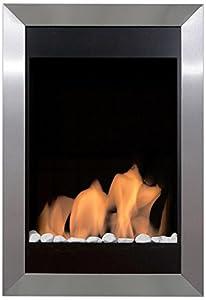 Bio-Blaze BB-SQV Wall-Mounted Bioethanol Fireplace Square Vertical