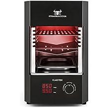 Klarstein Steakreaktor 2.0 Indoor Parrila grill Infrarroja para interiores (850 °C temperatura máxima, 1600W, calentadores de cerámica, barbacoa de casa)