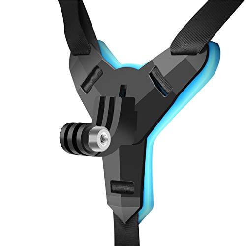 Upxiang Motorrad Fahrradhelm Kinn Halterung Halter für DJI OSMO Action für GoPro Hero7 Actionkameras Erweiterungs Zubehör Helm Kinn Halterung Halter (A)