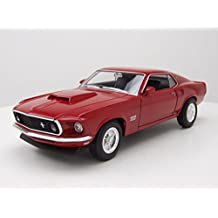 Ford Mustang Boss 4291970Rojo, modelo Auto 1: 24/Welly