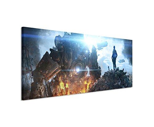 Stampata Titanfall _ Game _ 2015_ 150x 50cm Panorama _ Telaio di alta qualità con vera tela come quadro su telaio da parete