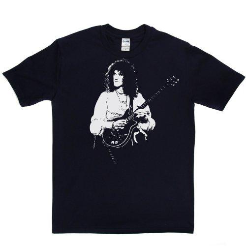 Brian May Pop Guitar Singer Music Tee 2 T-shirt Marineblau