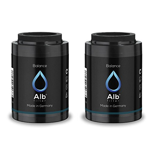 Alb Filter Balance 2er Set Duschfilter Ersatzkartuschen für gesunde Haut und Haare. Reduziert Schadstoffe. Made in Germany - Juckende Haut Badewanne