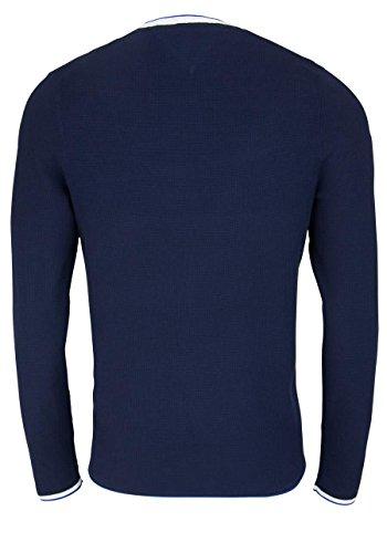 Tommy Hilfiger Herren Pullover Textured Light Gauge Cneck Blau (Navy Blazer 416)