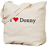 Cafepress–i Love Donny–Borsa di tela naturale, tessuto in iuta - Stampa Baby Names