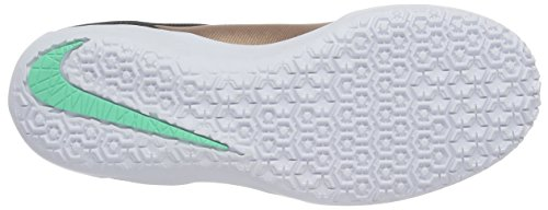 Nike  JR Hypervenomx Pro IC, Herren Laufschuhe Beige (Mtlc Rd Brnz / Blk Grn Glw White)