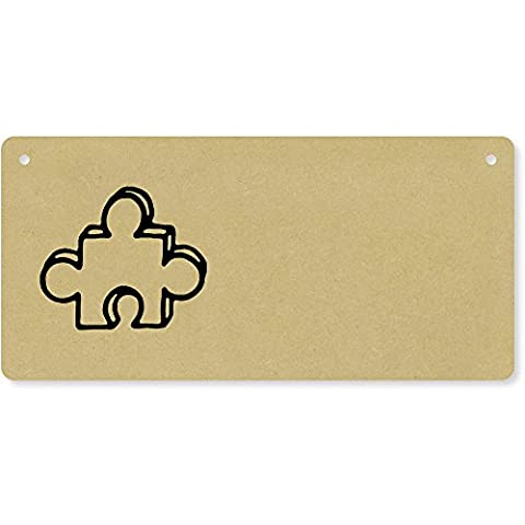 'Jigsaw Piece' Wooden Wall Plaque / Door Sign (DP00027403)
