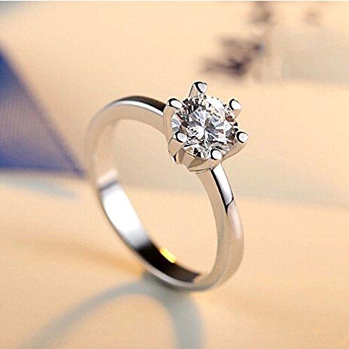 Cz-ehering-sets (L_shop 8mm CZ Diamant Ehering für Frauen anel 925 Sterling Silber Schmuck)