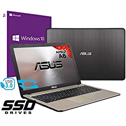 "Notebook Asus Vivobook Portatile Pc Display da 15.6"" Cpu AMD A6 2.60Ghz /Ram 4Gb DDR4 /Ssd 240GB /Graphics Radeon R4 /Hdmi Masterizzatore Wifi Bluetooth /Windows 10 professional + open office"