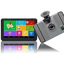 CY 1080P GPS GPS Auto-17,8cm Android 4.4.2mit UK und Full EU MAPS mit kostenloser lebenslanger Map Updates iGo WLAN Bluetooth 8GB zusammen mit Auto DVR