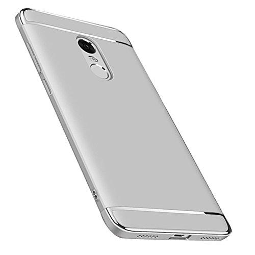Caler Xiaomi Redmi 5 Plus Carcasa rígida, Funda Antigolpes PC Ultra Slim 3 en 1 antigolpes Carcasa rígida Bumper Cover (Plata)