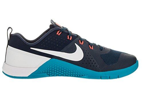 Nike - Metcon 1, Scarpe sportive Uomo Blu / Bianco / Arancione (Mid Nvy/White-Bl Lgn-Hypr Orng)