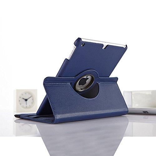 Preisvergleich Produktbild New dunkelblau PU Leder 360° rotierender Ständer Schutzhülle für iPad Pro 9,7