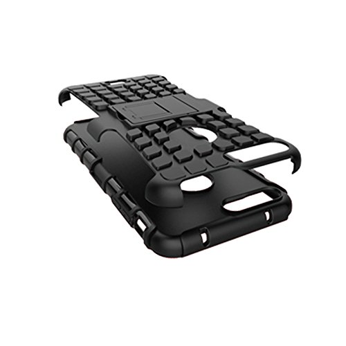 iPhone 7 Plus Coque,COOLKE Haute qualité Etui Housse Robuste Protection de Double Couche d'Armure Lourde avec Béquille Cover Case pour Apple iPhone 7 Plus (5.5 inches) - Blau Schwarz