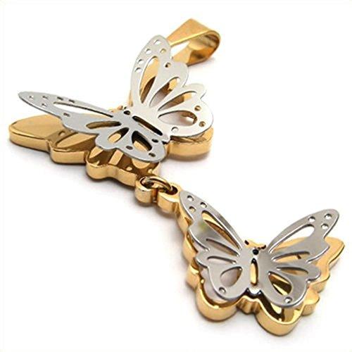 Daesar Acciaio Inossidabile Collana Uomo Ciondolo Collana Farfalla Oro Argento 16-24 Pollice