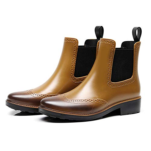 Mini Balabala Women Men Anti Slip Short Rain Boots Ladies Slip On Waterproof Ankel Chelsea Booties Rain Shoes