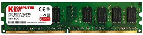 Komputerbay 2GB DDR2 667MHz PC2-5300 PC2-5400 (240 PIN) DIMM Desktop-Speicher -