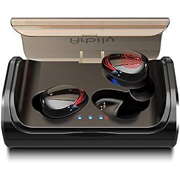 Arbily Écouteur Bluetooth Oreillette sans Fil Sportives de Charge 3000 mAh Réduction de Bruit CVC 6.0 Contrôle Tactile Écouteur Anti-Transpiration (Rouge)