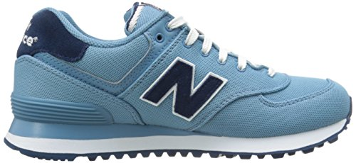 New Balance Women's WL574 Pique Polo Collection Running Shoe blue