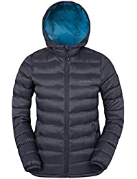 Mountain Warehouse Seasons Womens Padded Winter Jacket - Water Resistant Ladies Coat, Warm, Front Pockets, Adjustable Elastic Cuffs & Hood - for Holidays, Travelling