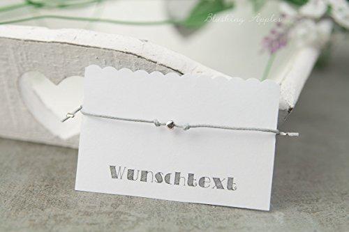 Farbe Antiksilber - Hochzeit, Junggesellinnenabschied, Gastgeschenke. Personalisierte Karte, Diverse Farben. (Personalisierte Karten)