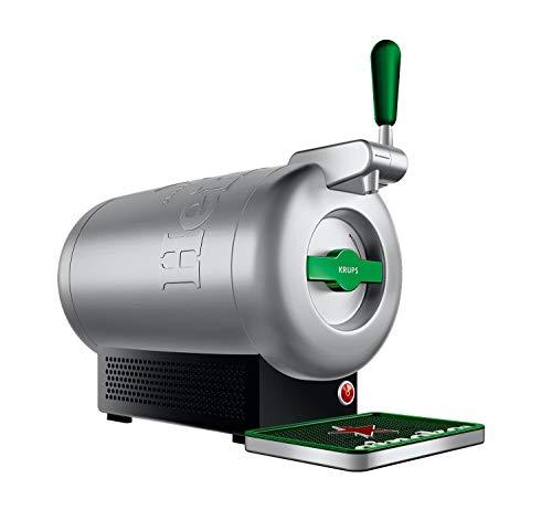 Krups The Sub Heineken VB650E10 - Tirador de cerveza, 2 L frescos de la cerveza 15 días, hasta 2º, eficiencia energética A+, silencioso, indicador listo para servir, Gris/Acero (Reacondicionado)
