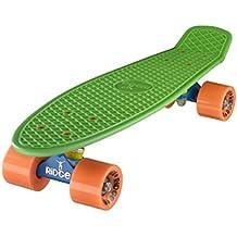"Ridge Retro Cruiser 22"" - Skateboard, color azul / verde / naranja, 58 cm"