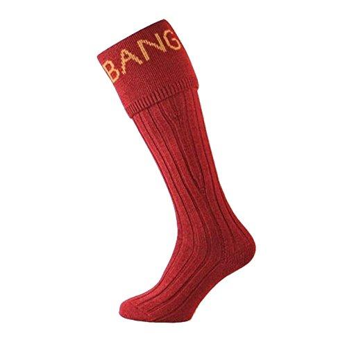 Bisley Bang Bang Shooting Socks - Size 9 to 11 - Red