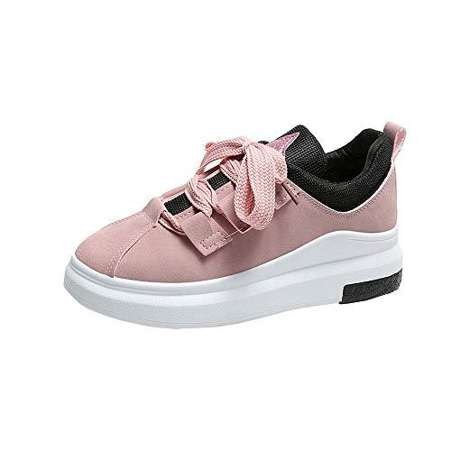 GiveKoiu Scarpe da Ginnastica Donna Interna Alte Sneakers Scarpe con Zeppa Scarpe Sportive a Tacco Inclinato alla Moda