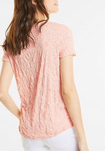 Street One Damen Ausbrenner V-Neck Shirt studio rose (rosa)