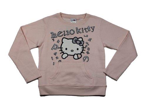 Hello Kitty Sweatshirt Pullover rosa (80511) Gr. 140 (Für Mädchen Sweatshirt Kitty Hello)