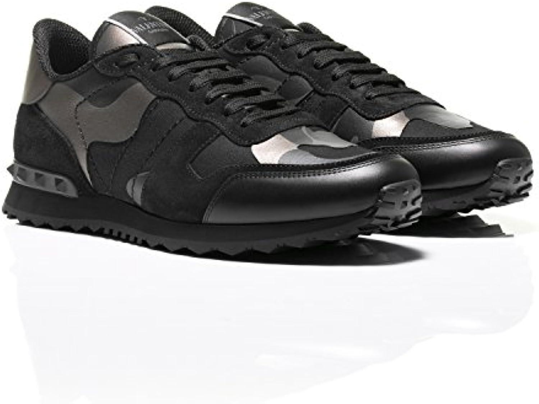 Valentino Herren Sneaker Schwarz und Bronze