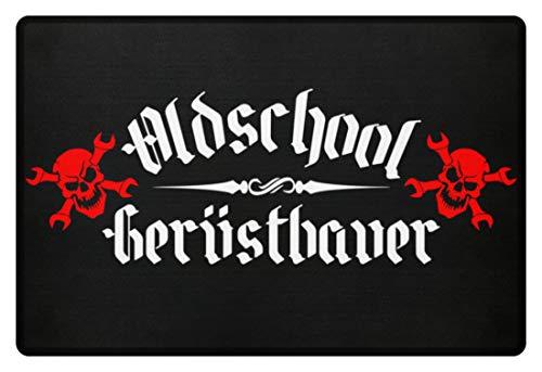 generisch Oldschool Gerüstbauer - Fußmatte -60x40cm-Schwarz