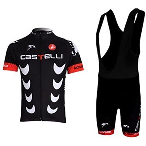 CASTELLI Ciclismo Jersey maglia Ciclismo Respirable manga corta Ropa de ciclismo Ropa de ciclo rápido de la bicicleta (S)