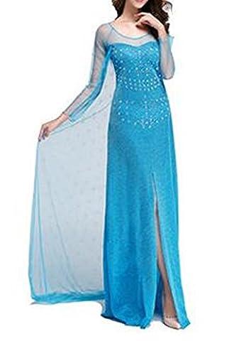 Damen Eiskönigin Prinzessin Kostüm Fasching Prinzessin Kleid Verkleidung Karneval Party