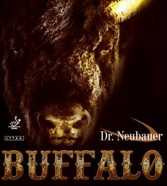 Dr. Neubauer Buffalo, 1,8mm, noir + 6Contenu du Balles de tennis de table 40mm, Fabricant différentes