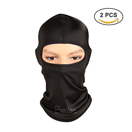 n 1 Balaclava Gesichtsmaske Unisex Multifunktionale schützende atmungsaktive Anti UV Strahlen Sonnenschutz für Outdoor Sport (Schwarz) (Halloween-musik-aktivitäten)