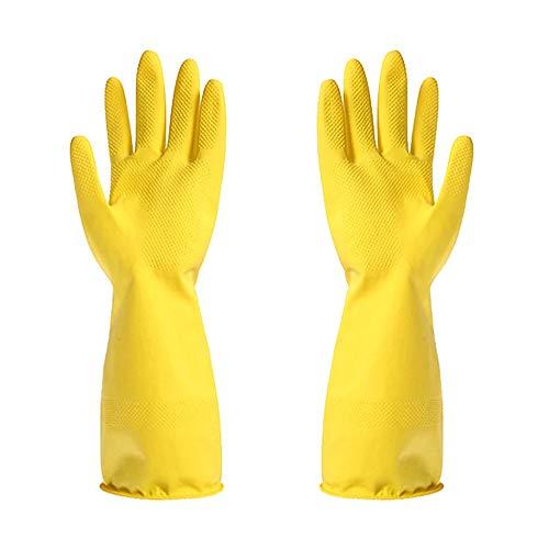 OPUSS Gummihandschuhe Haushaltshandschuhe Geschirrspülen Küche Handschuh Wasserdicht Latex Reinigung Handschuhe m gelb