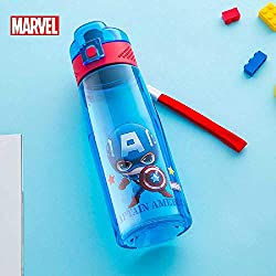 sanjinshangmao Disney Cartoon Children' s Plastic Cup Pipe Pipe Cup School Cup Estudiantes Portable Direct Drinking Pot a Prueba de Fugas Nuevo 500 ml de Marvel