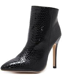 QIN&X Women's Bout rond Talon plat augmentation interne moyen. chaussures grande taille,48,Beige