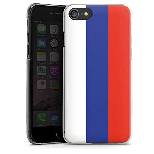 Apple iPhone X Silikon Hülle Case Schutzhülle Russland Flagge Russia Hard Case transparent