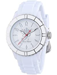 Paris Hilton PH13525JPWHS-04 - Reloj analógico de cuarzo para mujer con correa de plástico, color blanco