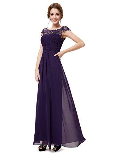 Ever Pretty Damen Lange Elegantes Abendkleid Festkleider 46 Violett (Über Brust Der)