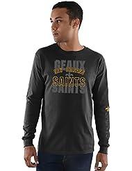 New Orleans Saints Majestic NFL Primary Receiver 3 Men's Long Sleeve T-shirt Chemise
