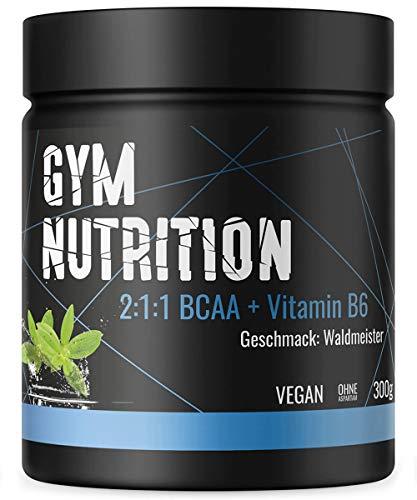 BCAA PULVER + VITAMIN B6 - Höchste Dosierung der Amino-Säuren Leucin, Isoleucin und Valin im Verhältnis 2:1:1 - Vegan und hochdosiert - WALDMEISTER - Dose Aus Der Hamburger