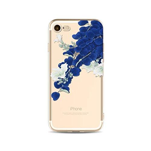 Cover iPhone 6/iPhone 6s, KSHOP silicone cover con Disegno di tema di natale, sottile morbide bumper custodia per iPhone 6/iPhone 6s - ophone renna di cartone animato bianco blu